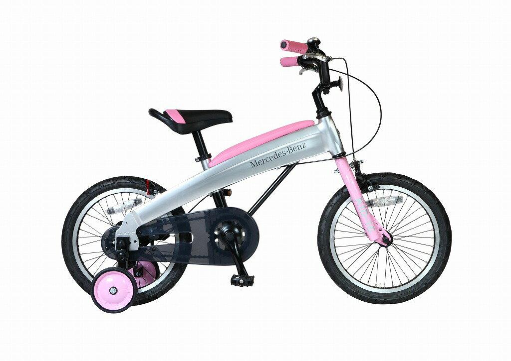 メルセデスベンツ 子供用自転車 Mercedes-Benz Kids-16 16インチ ピンク 子供 自転車 アルミニウム アルミフレーム 軽量 送料無料 子供車 パンクしないタイヤ ノンパンクキッズ 自転車 ジュニア 通販 おしゃれ