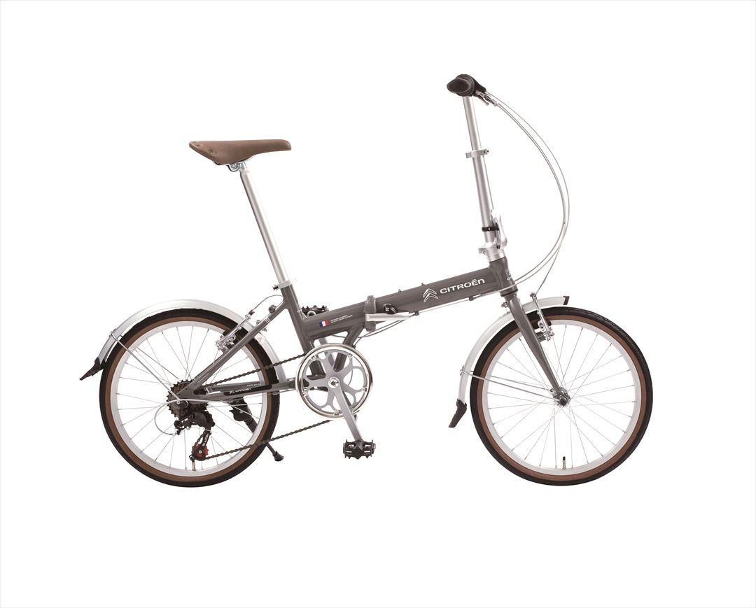 配送先一都三県限定 2018年モデル 送料無料 CITROEN AL-FDB207 シトロエン 折りたたみ自転車 20インチ 自転車 7段ギア グレー 変速 ギア付 激安 通販 おしゃれ