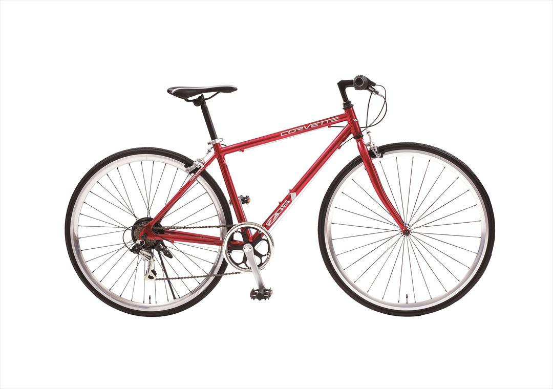 配送先一都三県限定 2018年モデル 送料無料 クロスバイク コルベット 自転車700c クロスバイク 軽量 外装6段変速ギア付き CORVETTE AL-CRB7006MD レッド 赤 激安 通販 おしゃれ