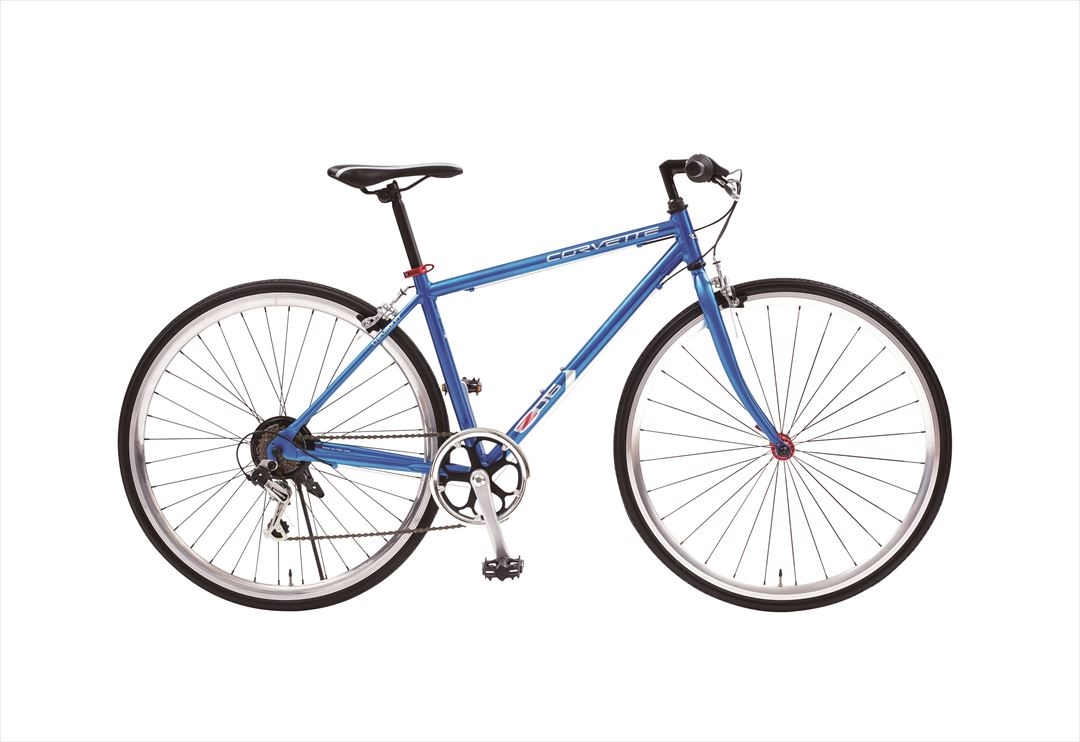 配送先一都三県限定 2018年モデル 送料無料 クロスバイク コルベット 自転車700c クロスバイク 軽量 外装6段変速ギア付き CORVETTE AL-CRB7006MD ブルー 青 激安 通販 おしゃれ