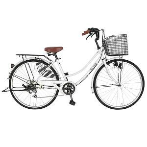 サントラストママチャリ・シティサイクル自転車(ホワイト)dixhuit