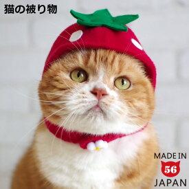 ゴロにゃんオリジナル いちごちゃん 猫の被り物