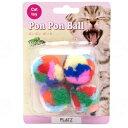 プラッツ ポンポンボール 【猫のおもちゃ】 (01032)
