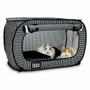 猫壱 NEW ポータブルケージ M ブラック SPORTPET スポーツペット 折りたたみ猫用ケージ ねこ用ゲージ ネコ用柵 非常用…