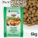 アーテミス フレッシュミックス フィーライン ドライキャットフード(幼猫〜成猫用) 6kg 正規品 (02031)【特箱】