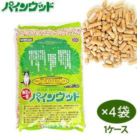 猫砂 パインウッド 猫砂 (6L×4袋)
