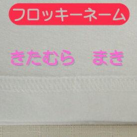 メール便等送料無料 お名前シール 文字サイズは3cm以上で指定可能 フロッキー A4 枚数はA4に入るだけ セット『10文字』『ひらがな/カタカナ/漢字/英字』/お名前シール/アイロン/入園/ネームシール/洗濯//防水/布用/保育園/幼稚園 M39M