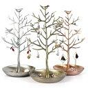 アクセサリースタンド 木と小鳥 レトロ調 テレビで紹介されました! ネックレス ピアス ウッドスタイル ディスプレイ …
