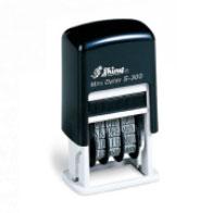 Shiny Mini Dater インク内蔵(日付スタンプ)印面約22mm×4mm /長方形/日付印・(1行) 4連タイプ M39M【RCP】