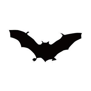 ステッカー はばたくコウモリ コウモリA 狙うコウモリ バットマン ハロウィン かっこいい クール/おしゃれステッカー/アクリルプレート/パーテーション/車/ガラス/窓/装飾/デコ/ハロウィー
