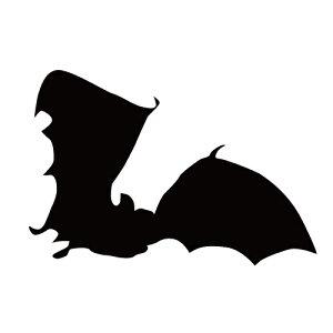 ステッカー コウモリg はばたくコウモリ 旋回こうもり バットマン ハロウィン かっこいい クール/おしゃれステッカー/アクリルプレート/パーテーション/車/ガラス/窓/装飾/デコ/【メール便