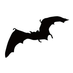 ステッカー コウモリI はばたくコウモリ 旋回こうもり バットマン ハロウィン かっこいい クール/おしゃれステッカー/アクリルプレート/パーテーション/車/ガラス/窓/装飾/デコ/【メール便