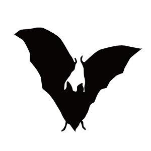 ステッカー コウモリJ はばたくコウモリ 威嚇するコウモリ バットマン ハロウィン かっこいい クール/おしゃれステッカー/アクリルプレート/パーテーション/車/ガラス/窓/装飾/デコ/【メー