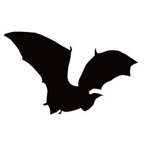ステッカー コウモリN はばたくコウモリ 空舞うコウモリ バットマン ハロウィン かっこいい クール/おしゃれステッカー/アクリルプレート/パーテーション/車/ガラス/窓/装飾/デコ/【メール