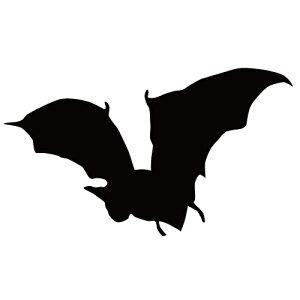 ステッカー コウモリP はばたくコウモリ 狙うコウモリ バットマン ハロウィン かっこいい クール/おしゃれステッカー/アクリルプレート/パーテーション/車/ガラス/窓/装飾/デコ/【メール便