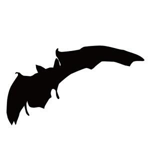 ステッカー コウモリQ はばたくコウモリ 旋回こうもり バットマン ハロウィン かっこいい クール/おしゃれステッカー/アクリルプレート/パーテーション/車/ガラス/窓/装飾/デコ/【メール便