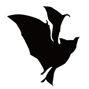 ステッカー コウモリR はばたくコウモリ 横向きこうもり バットマン ハロウィン かっこいい クール/おしゃれステッカー/アクリルプレート/パーテーション/車/ガラス/窓/装飾/デコ/【メール