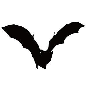 ステッカー コウモリS はばたくコウモリ 飛び立つこうもり バットマン ハロウィン かっこいい クール/おしゃれステッカー/アクリルプレート/パーテーション/車/ガラス/窓/装飾/デコ/【メー