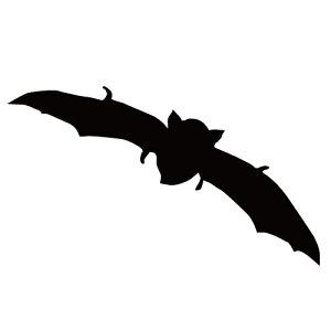 ステッカー コウモリT はばたくコウモリ 旋回こうもり バットマン ハロウィン かっこいい クール/おしゃれステッカー/アクリルプレート/パーテーション/車/ガラス/窓/装飾/デコ/【メール便