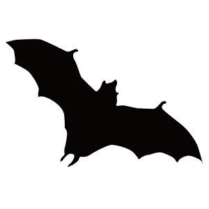 ステッカー コウモリX はばたくコウモリ 旋回こうもり バットマン ハロウィン かっこいい クール/おしゃれステッカー/アクリルプレート/パーテーション/車/ガラス/窓/装飾/デコ/【メール便