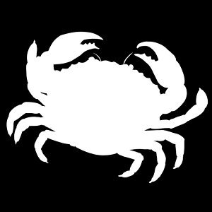 ステッカー かにB 毛ガニ 海の生き物 ガザミ 上海ガニ 蟹/おしゃれステッカー/アクリルプレート/パーテーション/車/ガラス/窓/装飾/デコ/【メール便送料無料】