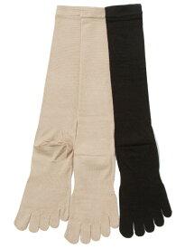 5本指ソックス シルク 絹 ハイゲージハイソックス S(22-24cm) 【8000】 五本指 靴下 レディース 日本製