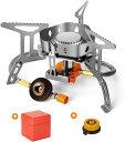 シングルバーナー バーベキューコンロ ストーブ ソロキャンプ コンパクト 折りたたみ式 CB缶/OD缶対応 自由に火力調節…