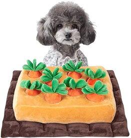 ペットおもちゃ にんじん ノーズワーク おやつ隠し 訓練毛布 ペット 犬 分離不安/ストレス解消/集中力向上/嗅覚訓練 おもちゃ 運動不足 食いすぎる対策 噛む 知育