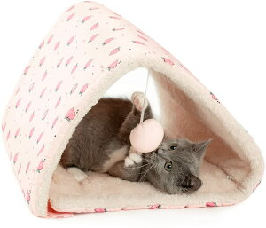 ペット用トンネル うさぎトンネル 犬猫マット ペットマット兼用 ボール付き 猫ハウス おもちゃ ピンク もも