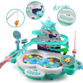 【ポイント5倍!】おもちゃ 魚釣りゲーム 釣り 磁気釣り フィッシング 水遊び お風呂 流れる水 プール 室内遊び 誕生日 クリスマス プレゼント 子供用 男の子 女の子