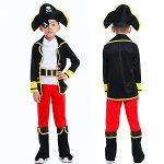 ハロウィン子供海賊仮装男の子コスプレコスチュームキッズこどもパイレーツパーティーグッズ演出服コスプレ衣装キッズハロウィンパーティーリトル海賊イベント吸血鬼