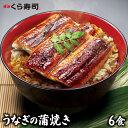 【20%オフ】うなぎの蒲焼 6食セット くら寿司 無添加 うな丼 カット 蒲焼 小分け 肉厚 山椒 うなぎのタレ 炭火焼 ひつ…