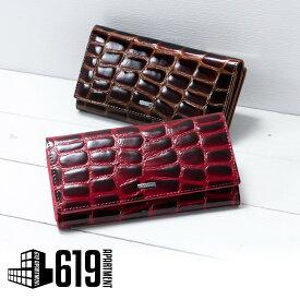 2cc8ad49961b レディース 財布 ウォレットCossni クロコダイル風長財布 がま口小銭入れ
