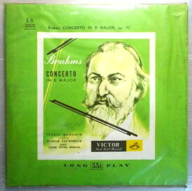 【中古レコード】Brahms CONCERTO IN D MAJOR, op. 77
