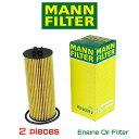 【お買い得2個セット】MANN FILTER マンフィルター HU6009Z JEEP GRANDCHEROKEE WK/WK2 WRANGLER JK V6 3.6L オイルエレメント ジープ …