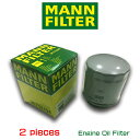 【お買い得2個セット】MANN FILTER マンフィルター W712/94  フォルクスワーゲン ザ・ビートル ゴルフ6 ポロ6R /AOPOF080
