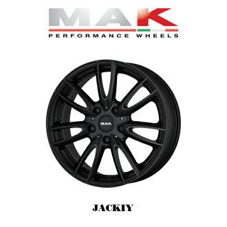 """""""轮罩4瓶一套""""MAK WHEELS JACKIY Matte Black Mac轮罩杰基垫子黑色18×7.0J 5H 112+54 BMW MINI F56专用的设计"""