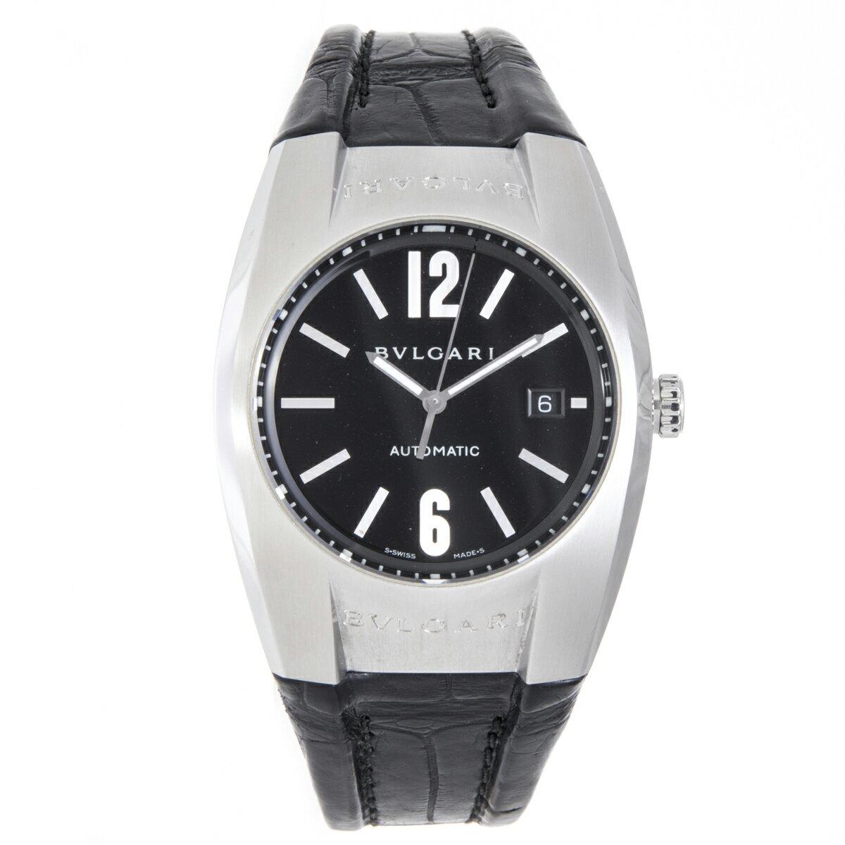 ブルガリ 時計 メンズ エルゴン EG40S 自動巻き SS 革ベルト BVLGARI