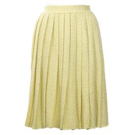 プラダ スカート フレア サイズ40 ニット パイル イエロー PRADA