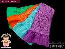 七五三の着物に 絞り柄の子供帯揚げ (正絹)-定番外色「紫・緑・水色・オレンジ」753oa-B