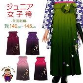 卒業式袴小学生ジュニアサイズ刺繍入りぼかし袴選べる色82cm「矢羽」jyg