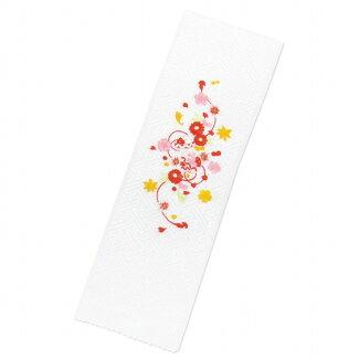 半衿子供用華やかな刺繍入りの半襟(合繊)「白、鞠」KHE838