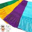 しごき帯 七五三 子供用の志古貴(しごき)正絹 選べる4カラー「山吹 紫 緑 水色」SGK