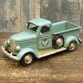 『ブリキのおもちゃ』アンティーク調ノスタルジックカー[自動車]ヴィンテージカーエアーフォーストラック(ブルー)