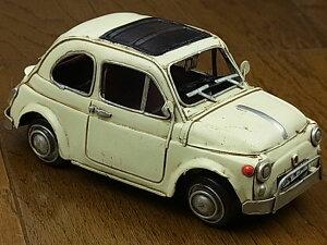『ブリキのおもちゃ』 アンティーク調 ノスタルジックカー[自動車]ホワイトカー/white car(ホワイト)西海岸 雑貨 西海岸風 【即納】