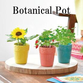 栽培キット Botanical Pot ボタニカル ポット 栽培セット ワイルドストロベリー ミニヒマワリ 四つ葉のクローバー 植物 グリーン ハーブ 向日葵 ヒマワリ インテリア かわいい オシャレ 置物 グッズ