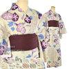 "GL[women-yukata] ""Somegokoro"" Women's Cotton and Linen Made YukataiSummer Casual Kimono) / Ryofu Patten [Designed in Japan]  fs04gm"