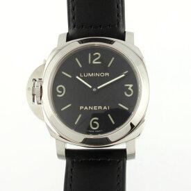 0990fa641c 中古 パネライ PANERAI ルミノールベース レフトハンド 44mm PAM00219 手巻き ブラック文字盤 メンズ腕時計 L番 2009年製造  SS レザー 【中古】