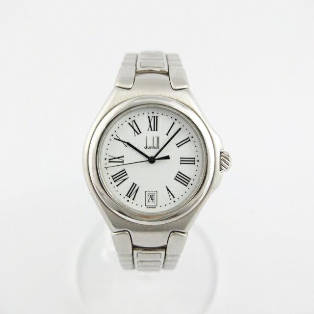ダンヒル dunhill ミレニアム クォーツ メンズ 腕時計 SS 白文字盤 【中古】