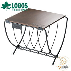 LOGOS/ロゴス ワイド薪ラックウッドテーブル ワイドでテーブルとしても使いやすい 持ち運びに便利な薪ラック 薪束ごと置けて地面からの湿気を防ぐ【2021】【送料無料】